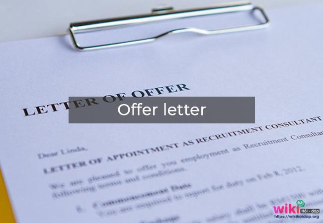Các thành phần trong email trả lời thư mời nhận việc