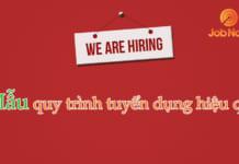 Mẫu quy trình tuyển dụng nhân sự