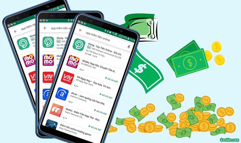 ứng dụng kiếm tiền trên điện thoại