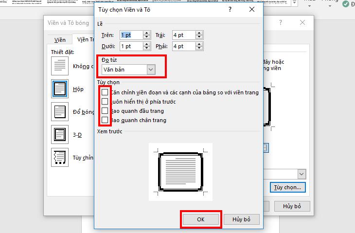 Kích bỏ các dấu tích để hoàn thành các bước tạo khung viền