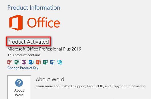 Hướng dẫn active office 2016