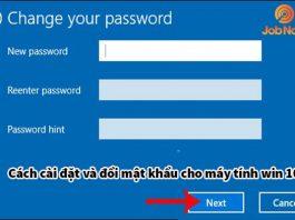Cài đặt và đổi mật khẩu máy tính