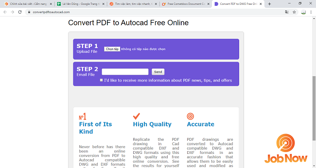 Chuyển PDF sang cad bằng Cometdocs