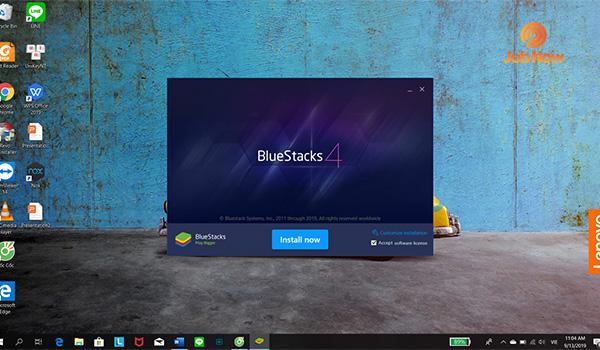 Cài đặt phầm mềm BlueStacks
