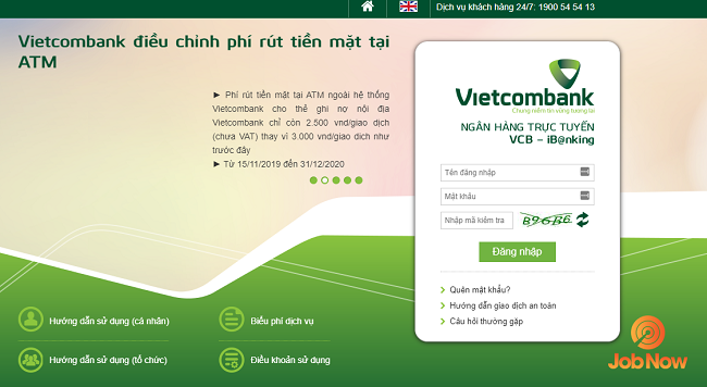 internet banking vcb