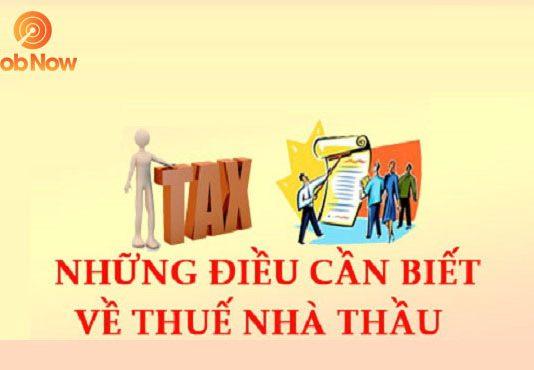 Thuế nhà thầu là gì?