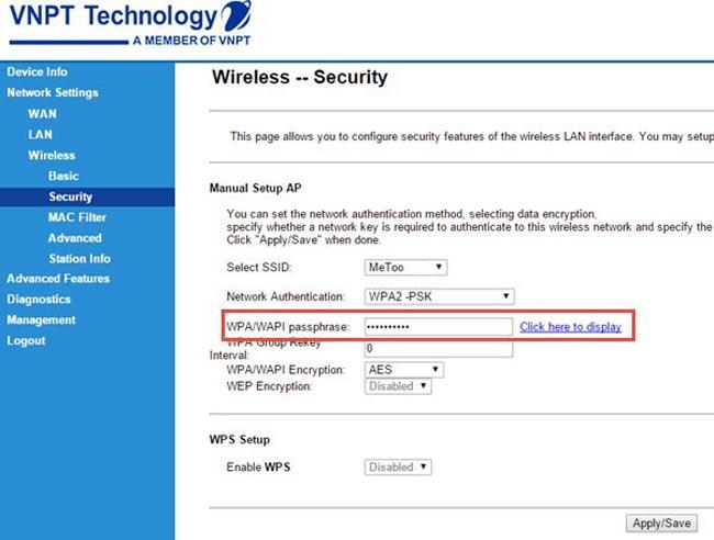 Cách đổi pass wifi iGate trên máy tính