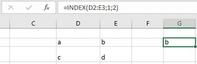 excel hàm index