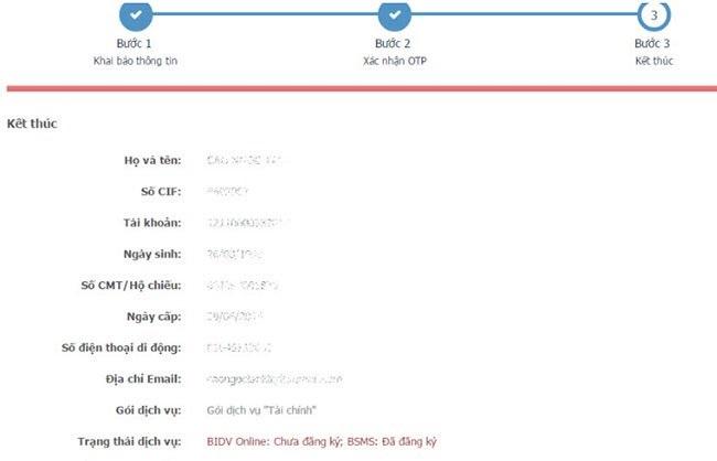 cách đăng ký BIDV online