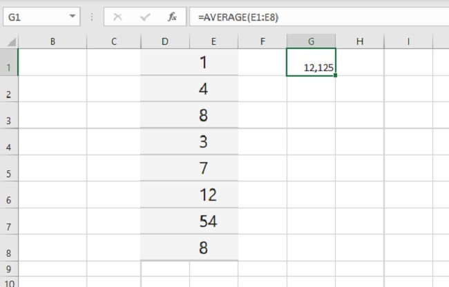 excel hàm average