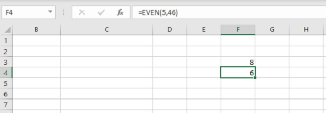 excel hàm even